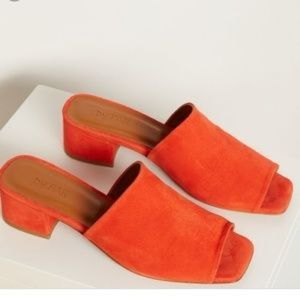 BY FAR 'Scandi' Suede Mules Size 6
